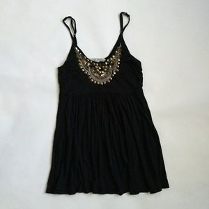 American Rag Embellished Black Top